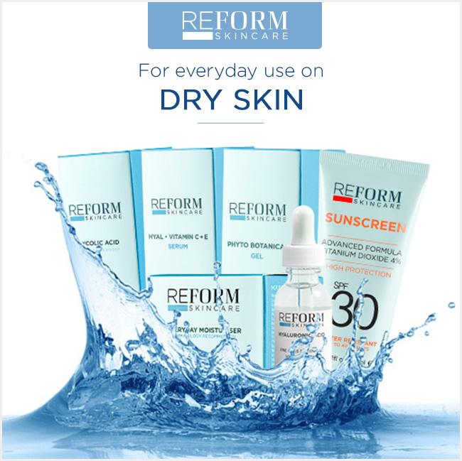 reform skincare dry skin