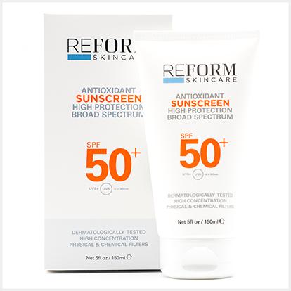 reform skincare spf 50 sunscreen